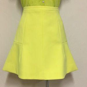 J Crew Neon Mini Skirt